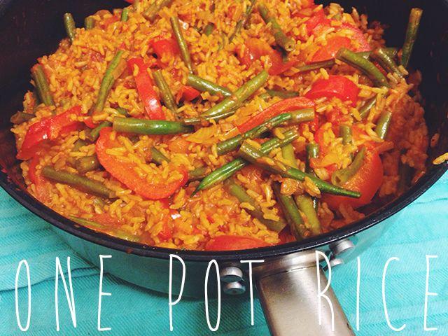One-pot paprika rijst.