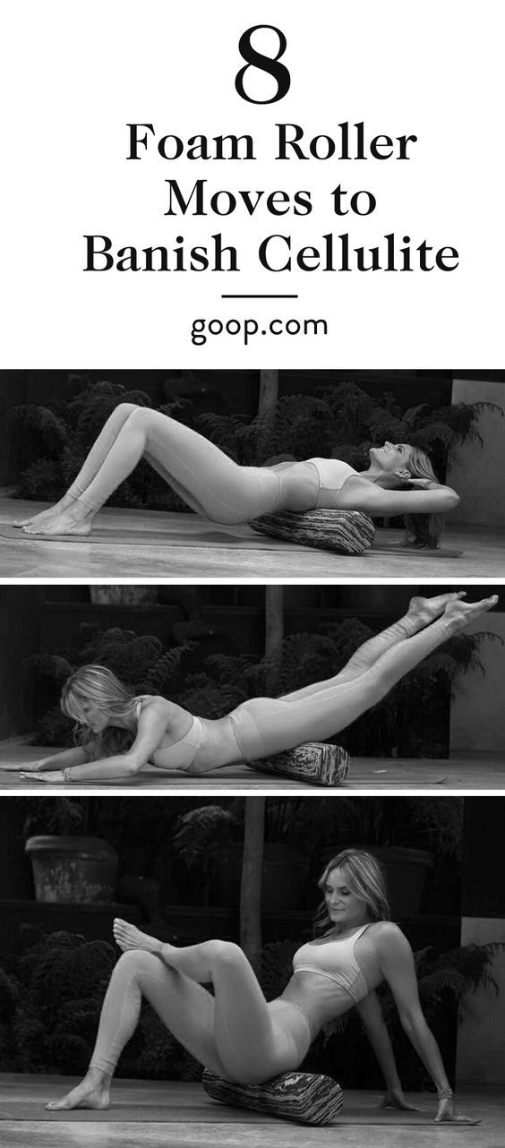 How to release fascia and get rid of cellulite with these foam roller moves and stretches.