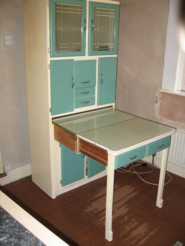 I love this!  KITCHEN QUEEN TABLE UNIT RETRO VINTAGE 1950/60s ESSENTIAL CABINET - light Blue