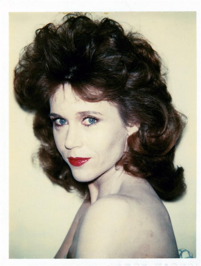 Jane Fonda photographed by Andy Warhol in 1982.