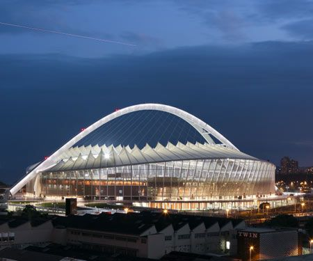Moses Mabhida Stadium by GMP Architekten - Durban. South Africa