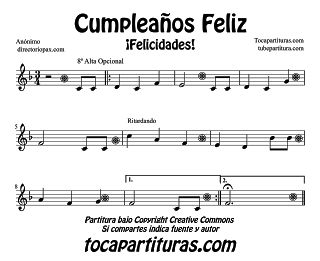 Happy birthday sheet music and happy on pinterest - Cumpleanos feliz piano ...