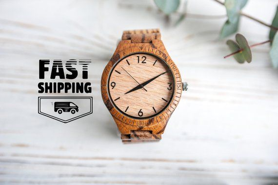 Engraved watch men,Mens wooden watch,Personalized gift for husband,Wooden watch,Wood wrist watch,Wood watch,Personalized wooden watch