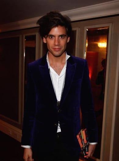 Mika in purple velvet 2008 Music Industry Trust awards ceremony to honor Lucian Grainge