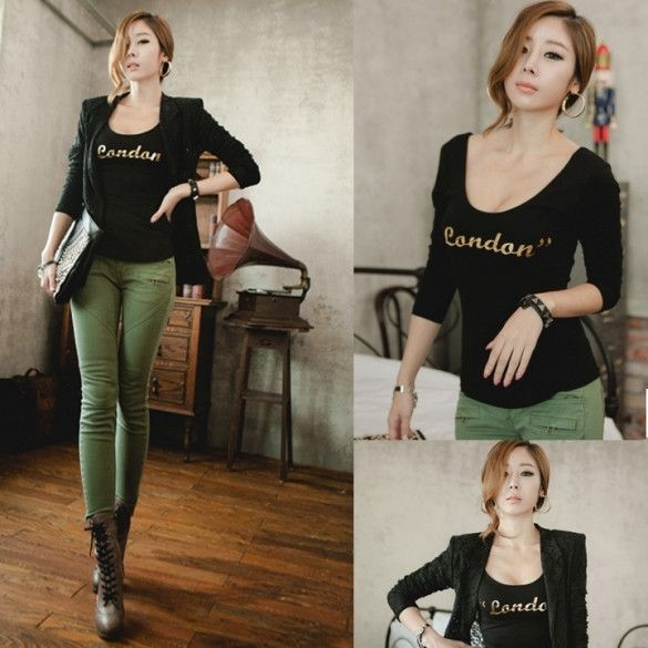 New Fashion Women's Tops Blouse Evening Party Slim Long Sleeve T-shirt