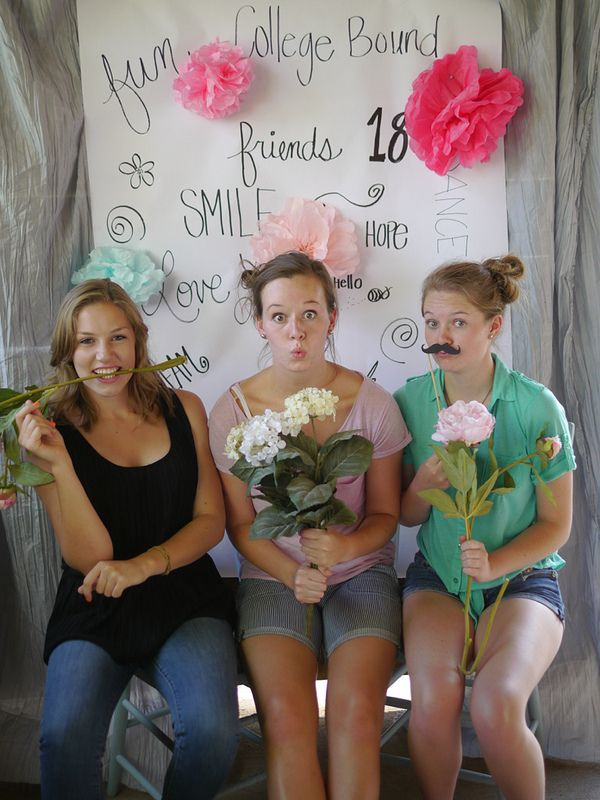 Diy Photo backdrop for 18th birthday party!