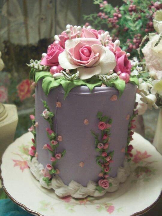 Purple vintage cake