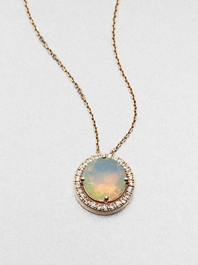 Rose Gold Opals And Pendant Necklace On Pinterest
