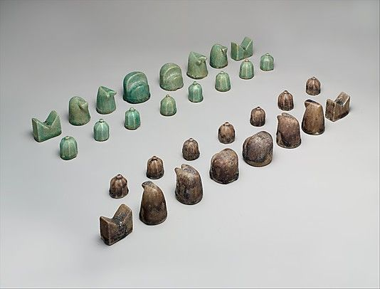 Chessmen from 12th century Iran-Islamic stone-paste, also called fritware and quartz frit, is a ceramic material which seems to have been first manufactured in Iraq in the 9th century... made by combining clay with quartz or other siliceous material, as well as glass frit, to which is adjoined an organic compound such as gum or glue for binding...