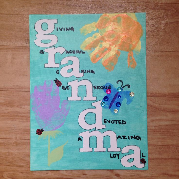 Grandma's birthday painting!