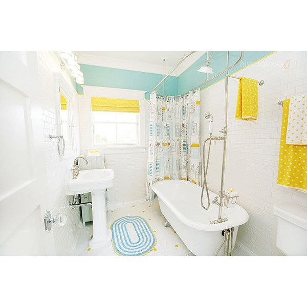 1000 images about aqua bathroom on pinterest yellow - Yellow and turquoise bathroom ...