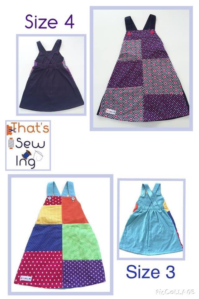 Handmade by That's Sew Ing Size 3 or Size 4 Patchwork Pinny