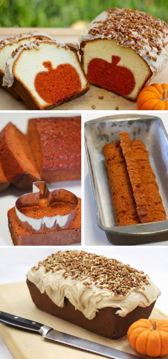 Peekaboo Pumpkin Pound Cake   Click Pic for 23 Quick and Easy Thanksgiving Desserts Recipes for Kids   Easy Fall Treats for Kids to Make