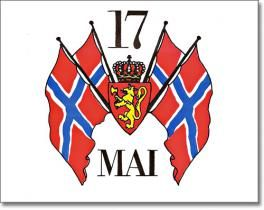 Syttende Mai crest for Norwegian independence day.