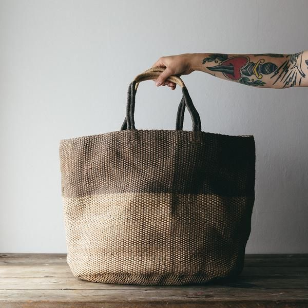 Stunning hand woven jute tote bags made from sustainable material by a fair trade co-operative. These unique and super stylish bags are a must for any trip.