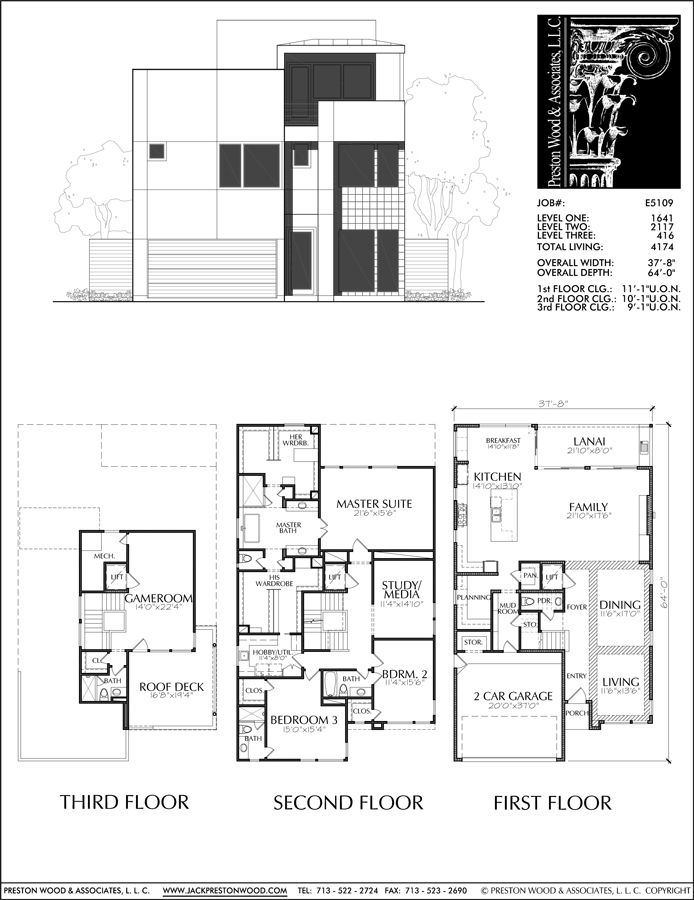 Two Story House Plan E5109 House Plans Two Story House Plans Modern House Plans