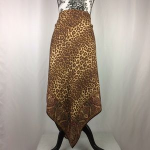 I just added this to my closet on Poshmark: Gap • Silk Handkerchief Leopard & Paisley Skirt. Price: $55 Size: 12