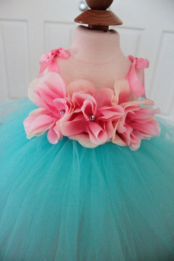 Blue Tutu Dress  Flower Girl Tutu  Dress by ClassySassyElegance, $65.00