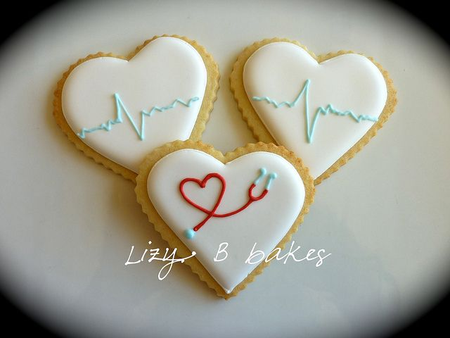 Cookies for nurses by lizybbakes, via Flickr