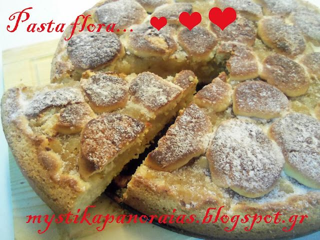 Pasta flora with handmade apple jam!! http://mystikapanoraias.blogspot.gr/2013/11/by-akis-petretzikis.html