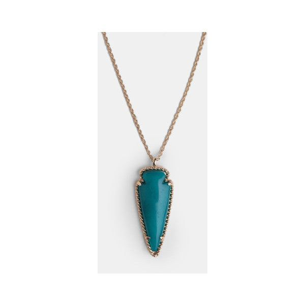 Cry Wolf Necklace (65 BRL) ❤ liked on Polyvore featuring jewelry, necklaces, chain necklaces, gold tone necklace, teal necklace, wolf jewelry and teal jewelry