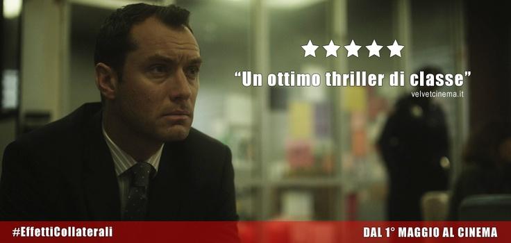 #EffettiCollaterali - #JudeLaw interpreta lo psichiatra Jonathan Banks nel thriller del premio Oscar #StevenSoderbergh. Dal 1° Maggio 2013 #alcinema.