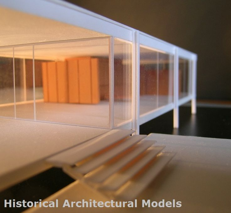 Mies van der Rohe, FARNSWORTH HOUSE, scala 1:100 - size cm 40 x 26 - The model costs € 165 + shipping will be sent within 10 days after the 'Order to: hist.arch.models@gmail.com