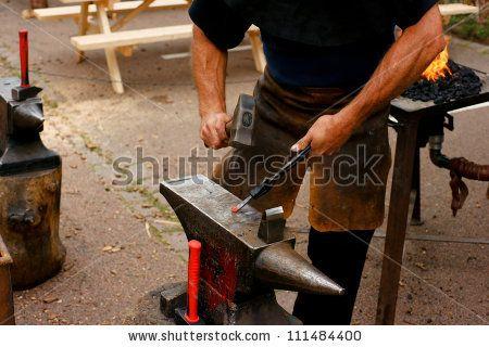 Blacksmith In Action Lagerfoto 111484400 : Shutterstock