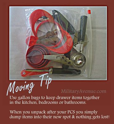Moving Tip: Use Gallon Bags  (We are looking for YOUR tips.  Leave a comment at the blog-post)