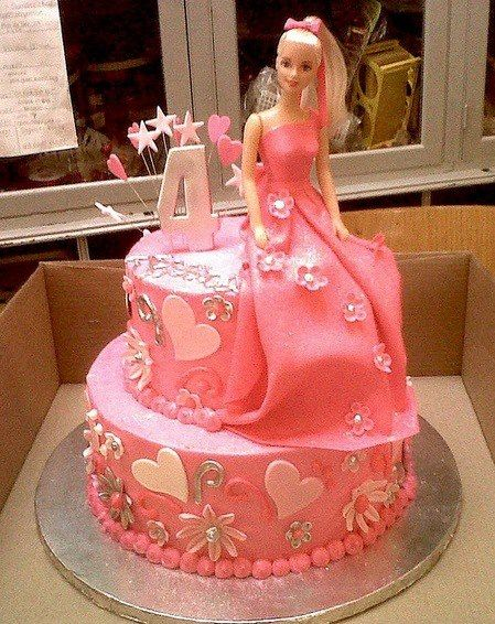 493 best Doll Cakes images on Pinterest Barbie cake Birthdays and