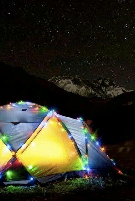 Full of lights tent | Camping Idea | Pinterest | Christmas ...