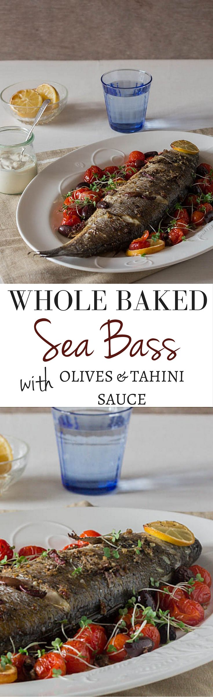 Whole Baked Sea Bass Recipe | Recipes From A Pantry