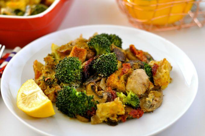 Creamy Broccoli Casserole with Mushrooms