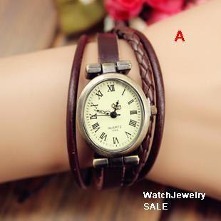 SALE,women watches,Women PU Leather Watch Women Wrist Watch,Retro Watch,Roma Style Watch, W002 on Etsy, $14.99