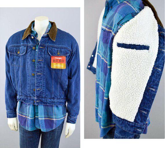 1f4647b16229c Wrangler Hero Denim Jean Jacket Vintage