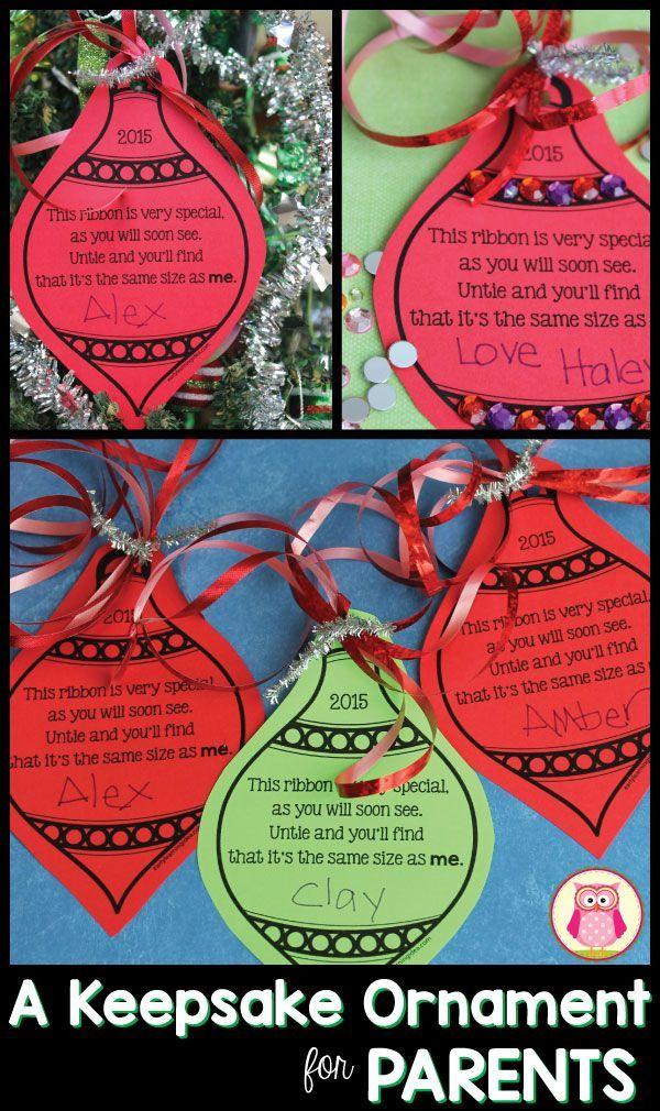 A Simple Parent Gift: [Free Keepsake Ornament Printable