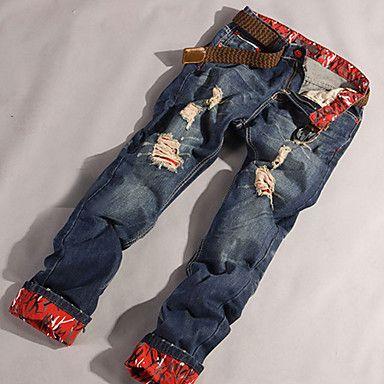 Élégant Conçu droite Slim Fit Pantalons Homme Jean Pants Taille 30-34 - EUR € 15.34