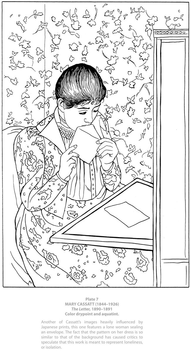 666 best coloring pages women images on pinterest for Mary cassatt coloring pages