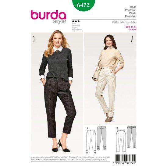 Burda Style Bundfaltenhose Schnittmuster bei Stoffolino verfügbar!