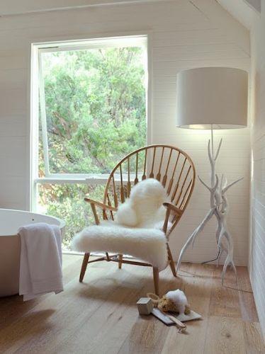 Ikea Tejn White Faux Sheepskin Rug