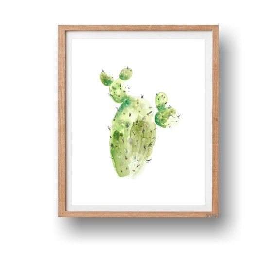 Botanical cactus watercolor printable art print from my latest work. This is a digital instant download, not a print, taken from my original watercolor painting that makes a great addition to your home decor or a great gift by ArtMii