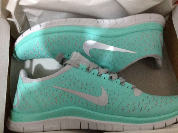Tiffany blue running shoes $49 -paypal