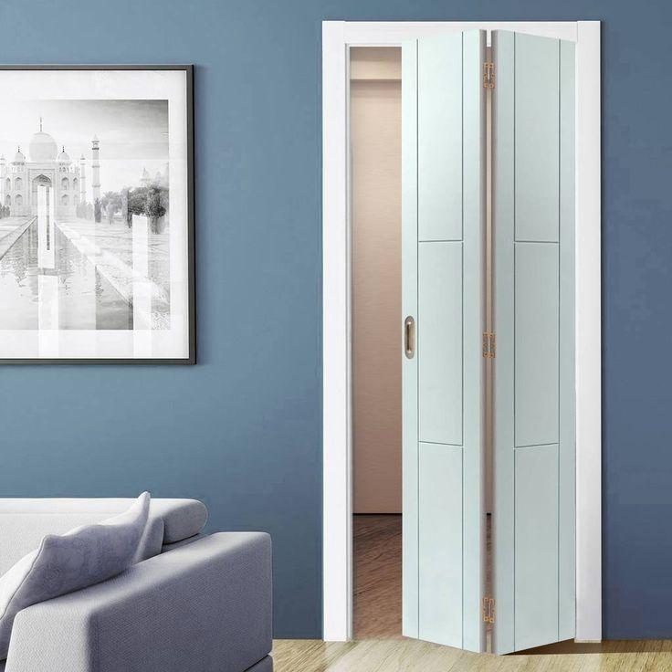 JB KIND Limelight Mistral White Primed Flush Bifold Door - Lifestyle Image