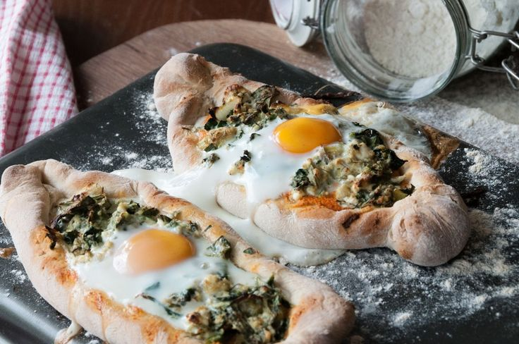 Spinach Feta and Egg Pizza Boats! These pizza boats are called Peinirli in Greece and are served in many restaurants. This one is a very filling, energizing and tasty peinirli. Try making it for breakfast!  Fo...