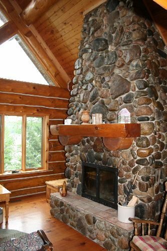 country cottage living room decor white elegant furniture the 25+ best river rock fireplaces ideas on pinterest ...