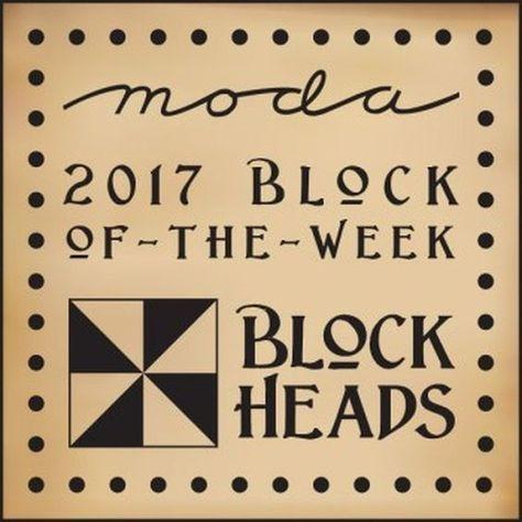 Moda Blockheads 2017 Free Block Pattern of the Week