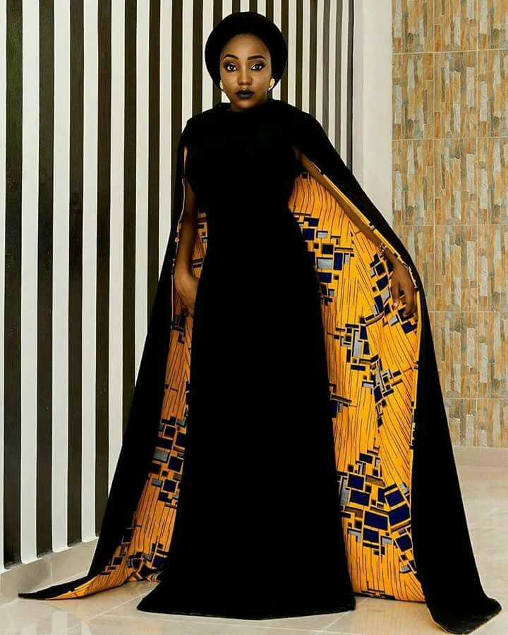 #GreatWays To rock African Fashion This Month // the inside reminds me of The Kiss by Gustav Klimt