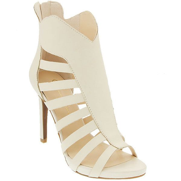 Jessica Simpson Women's Norlina Pumps (195 NZD) ❤ liked on Polyvore featuring shoes, pumps, jessica simpson shoes, jessica simpson footwear, cage shoes, leather upper shoes and caged pumps