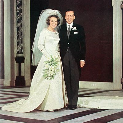 Queen Beatrix of Holland 1966    On the 10th of March Crown Princess Beatrix marriages Claus von Amsberg, First in a civic ceremony and later that day in a religious ceremony in Amsterdam.