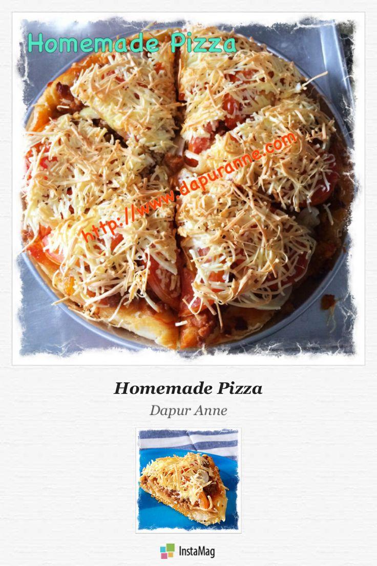 Homemade Pizza with no knead dough..